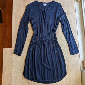 Splendid navy blue button up shirt dress